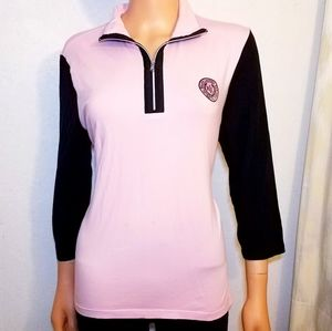#702 Lauren Ralph Lauren Vintage xl Zip Shirt Top